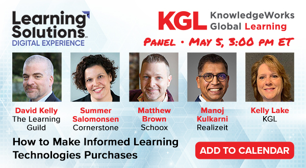 Panel: How to Make Informed Learning Technologies Purchases